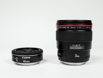 40 and 35mm lenses